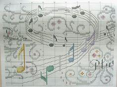 Cross stitch Music pattern 3