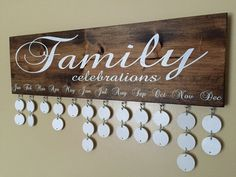 This Family Celebrations Board is a great way to keep track of family birthdays at a glance. I originally found the idea for this board while