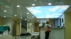 Stretch Ceiling and Leds work Hospital Environment Lake ceilings and digital print work Mecidiyeköy/İstanbul/Turkey