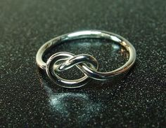 Sterling Love Knot Ring / Mother Daughter by fallingleafjewelry, $18.00