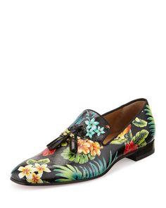 58a8f146794 la boutine shoes - Cousin Charles Flat Black Leather - Men Shoes - Christian  .. replica mens louboutin - Christian Louboutin Dandelion Tassel ...