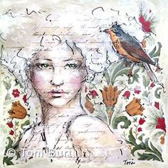 "My ""flapper girl""... because she reminds me of that era.  Thinking of calling her Josie.  Collage, graphite, oil paint and sticks.  #mixedmediaart #mixedmedia #oilpainting #oilsticks #sennelieroilsticks #toniburt #toniburtartist #art"