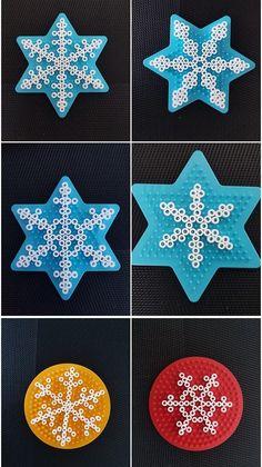 Easy Perler Bead Patterns, Melty Bead Patterns, Perler Bead Templates, Diy Perler Beads, Perler Bead Art, Beading Patterns, Hamma Beads Ideas, Christmas Perler Beads, Pearl Beads Pattern
