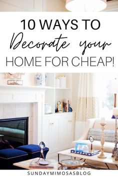 Looking to decorate your apartment on a budget!? Here are 10 super cute apartment decor ideas to make your apartment look Pinterest-worthy for cheap. Click here to read about all my best decorating ideas for the home! #homedecor #decoratingideas #decor