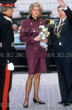 April 14 1988 Diana visits & opens the Maltings Shopping Centre in St. Albans, Hertfordshire.