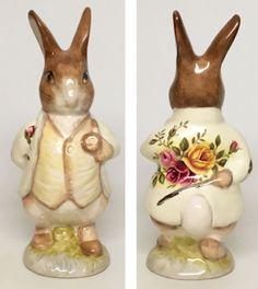 "Rose Jacket-Royal Albert Beatrix Potter Figurine ""Mr. Benjamin Bunny""  | eBay"