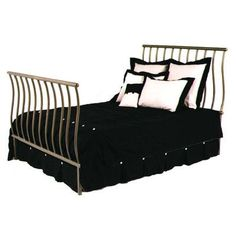 Grace Sleigh Bed Finish: Burnished Copper, Size: King