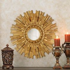 Lamps Plus Eleganza Starburst Wall Mirror $270
