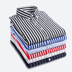 d81485b1d96f1 T-bird Shirt Men 2018 New Striped Long Sleeves Mens Dress Shirts Camisa  Masculina Spring Summer Brand Casual Male Shirt Tops Price history.