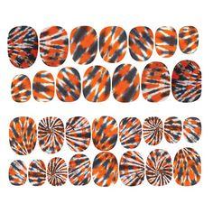 Rad - Orange Print nail patches