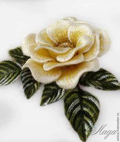 Trendy Embroidery Leaf Appliques Ideas - Reality Worlds Tactical Gear Dark Art Relationship Goals Embroidery Leaf, Hand Embroidery Videos, Hand Embroidery Stitches, Silk Ribbon Embroidery, Embroidery Techniques, Machine Embroidery Designs, Embroidery Patterns, Vintage Embroidery, Brazilian Embroidery