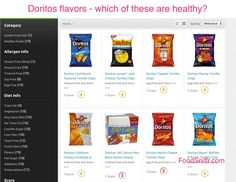 Doritos flavors - which are healthy and clean? -  http://www.foodsniffr.com/blog/doritos-flavors-which-are-healthy-and-clean/  Doritos flavors - find out which are worth adding to your grocery list Chips are the staple junk food, and Doritos is no exception. So are there any Doritos flavors that are clean and healthy? Find out what's inside Doritos chips at FoodSniffr!     Say hello to Sniffy, the FoodSniffr
