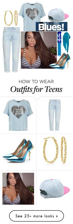"""Blue baby"" by justuandurhands2night on Polyvore featuring Ross-Simons, Vans, New Look, M.i.h Jeans, NARS Cosmetics, Lime Crime and Posh Girl"