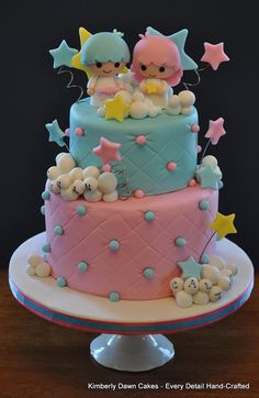 Little Twin Stars Cake by Kimberly Dawn Cakes, via Flickr