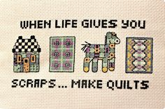 handmade by amalia: Deep Thoughts Say That Again, Deep Thoughts, Quilts, Sayings, How To Make, Handmade, Life, Decor, Hand Made
