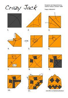 Origami tutorial: Dracula   Crafts-Origami   Pinterest   Origami ...