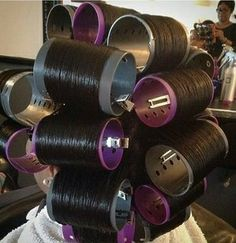 Big Hair Rollers, Bobe, Hair Setting, Roller Set, Curlers, Vintage Glamour, Perm, Natural Hair Styles, Hair Beauty