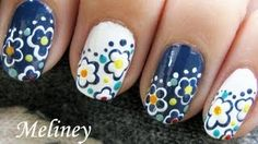Spring Nails Easy Day & Night Flower Nail Art Design Tutorial Cute Simple for short nails DIY, via YouTube.