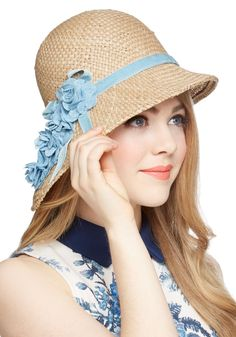 Pure Edith Hat in Blue   Mod Retro Vintage Hats   ModCloth.com
