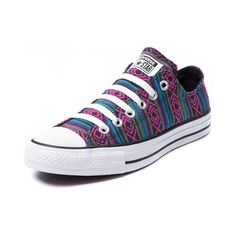 Shop for Converse All Star Lo Guatemalan Sneaker in Multi at Journeys Shoes. Shop today for the hottest brands in mens shoes and womens shoes at Journeys.com.The All Star knows no bounds. From b-ball courts  to punk clubs. From skateparks to school yards. The Converse All Star has come a long way, and its ready to take you even further. The original Old School never lets up. Guatemalan print canvas upper, rubber sole. Available only at Journeys and SHI! Please note that this shoe runs a half…