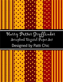 harry potter scrapbooking paper set of 6 digital 8.5 x 11. Great for scrapbook pages, cards, harry potter party invites  (invitations) and more!