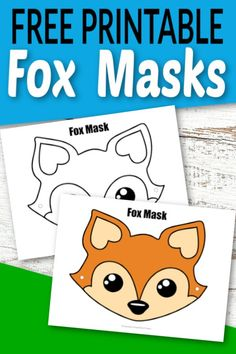 Mar 2020 - These free cutout fox face masks are perfect for kids of all ages. Use the fox mask coloring page or print and play with full colored version. Choice is yours! Fox Crafts, Animal Crafts For Kids, Animals For Kids, Writing Prompts For Kids, Kids Writing, Fun Crafts To Do, Craft Stick Crafts, Printable Masks, Free Printables