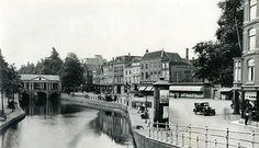 De Vismarkt net voor de afbraak ten behoeve van de bouw van het nieuwe stadhuis (ca. 1934).
