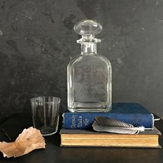 Vintage Possibly Antique Flash And Cut Glass Decanter Convenient To Cook Decanters