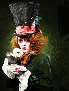 Alice in Wonderland - this would make an awesome Halloween costume.