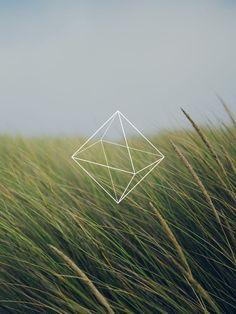 White logo, see-through.: