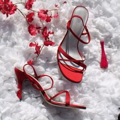 Nordstrom BP satin heels Excellent condition. Comfortable 3 inch satin sandal hills with elastic straps and leather soles. Red. Hot! BP. Shoes Heels