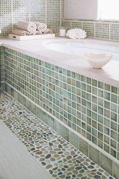 ideas for bathroom in contemporary with multiple shower head subway mosaic backsplash wall tiles