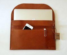 11''  13'' 15''Macbook Sleeve,Genuine Leather Macbook Case, Laptop sleeve, Document Case,,Handmade CaseOffice Paper Folder,Office Bag