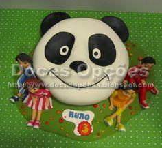 Doces Opções: Bolo do Panda com os Caricas