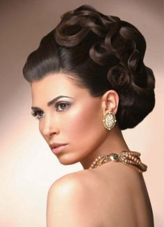 Pin Curls Wedding Up Do