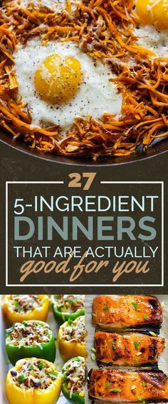 Easy 5-ingredient dinners that taste great and are actually good for you (i.e. healthy!!)