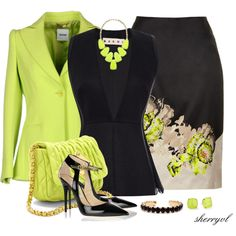 """Print Pencil Skirt Contest"" by sherryvl on Polyvore"