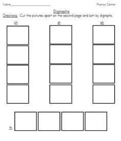 Digraphs And Blends on Sh Digraph Word Sort Teacher Pay Teachers And