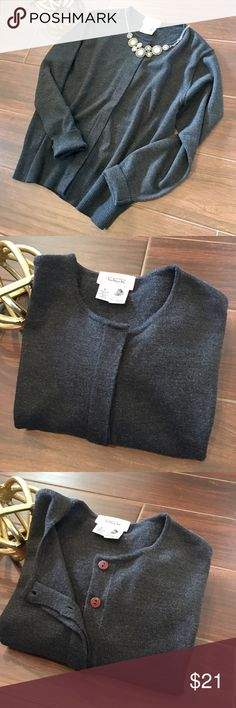 Talbots Petites Merino Wool Cardigan. Gently used. Soft, cozy crafted in pure Merino Wool. Simple shape. In closed buttons. Machine wash cold on delicate cycle only. Imported. Talbots Petites Sweaters Cardigans