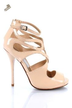 Qupid Demand-216 Beige Strappy Peep Toe Sandal StyleUpGirl (9) - Qupid pumps for women (*Amazon Partner-Link)