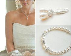 Bridal Jewelry SET Wedding Necklace SET Bridal by SarahWalshBridal