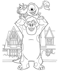 Monsters University Coloring Pages // Páginas para colorear de Monsters University