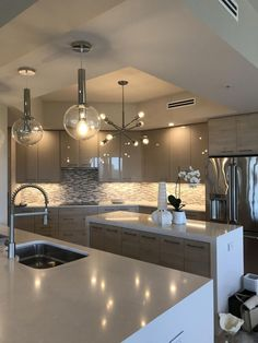 43 Awesome Luxury Dream Kitchen Design Ideas - The Architecture Home , Luxury Kitchen Design, Kitchen Room Design, Home Room Design, Dream Home Design, Luxury Kitchens, Home Decor Kitchen, Interior Design Kitchen, Kitchen Designs, Kitchen Ideas