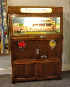 Grand national penny machine Arcade Game Machines, Vending Machines, Arcade Console, Retro Arcade Games, Penny Arcade, Grand National, Old Coins, Classic Toys, Pinball