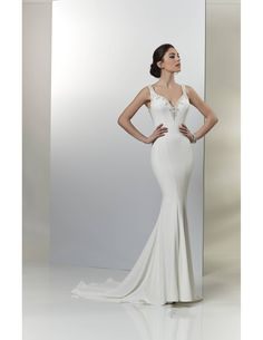 Sleek satin mermaid available at Spotlight Formal Wear! #SpotlightBridal