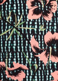 Matthew Williamson SS15 Climbing Hibiscus Print. A key print inspired by David Bailey's shots of Marie Helvin.