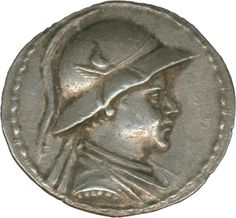 Greece: Bactria, Eukratidas 171-135 BC, tetradrachm, silver 16.8 g. Bust of the king, at back. Dioscuri with spears. Very fine + certificate Knight    Dealer  Schwanke GmbH    Auction  Minimum Bid:  350.00 EUR