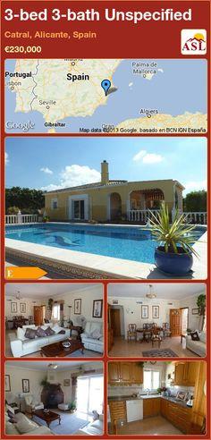 3-bed 3-bath Unspecified in Catral, Alicante, Spain ►€230,000 #PropertyForSaleInSpain