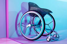 """The Go Wheelchair is meant to """"look cool lined up at the club,"""" says its creator, and is more practical and comfortable than regular chairs."""