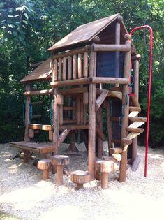 Custom Tree Fort - Ponderosa Playground